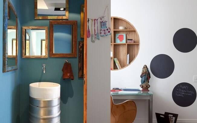 decorar lavabo antigo:Criar seus próprios móveis e objetos de decoração pode ser mais