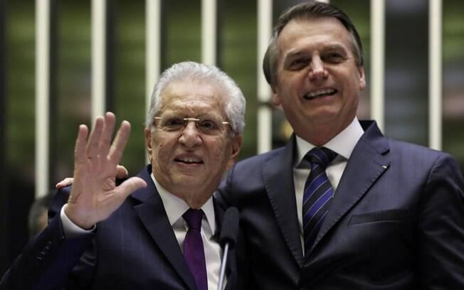 Bolsonaro acompanhou sessão solene em homenagem a Carlos Alberto de Nóbrega