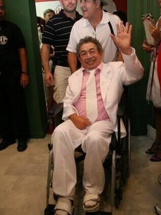 Joãosinho Trinta no camarote da Grande Rio no Carnaval de 2010