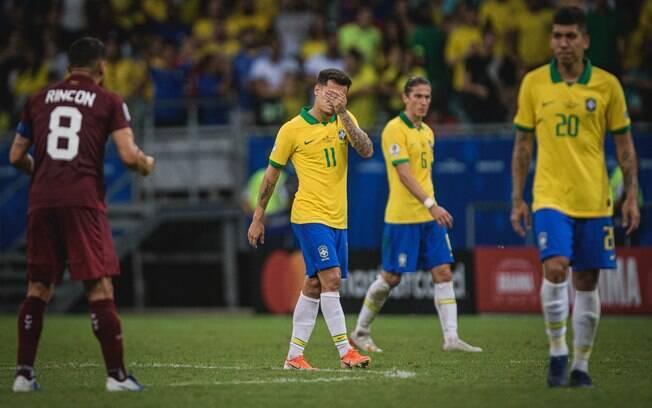 Seleção brasileira só empatou com a Venezuela em Salvador