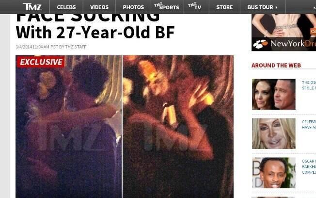 Heidi Klum e Vito se beijam em festa pós-Oscar