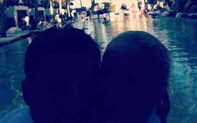 Danielle Winits e Amaury Nunes em foto publicada no Twitter da atriz