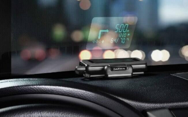 Garmin lança dispositivo que projeta mapas e dados do GPS do smartphone no para-brisa