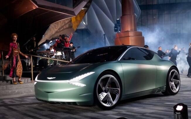A Genesis, marca da Hyundai, exibiu o conceito Mint, um cupê subcompacto de apenas três portas