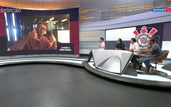 Neto participou de programa no SporTV