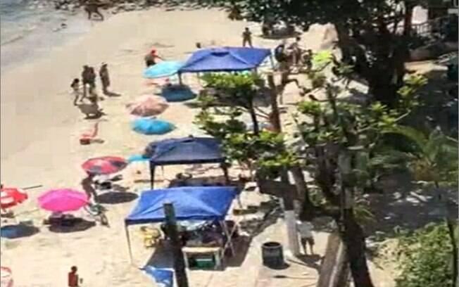 Tiroteio em São Vicente deixou uma banhista ferida