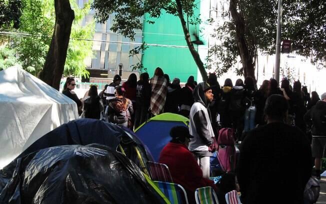 O acampamento montando três meses atrás na praça Conde Francisco Matarazzo Junior, vizinha ao estádio do Palmeiras, começa a ser esvaziado