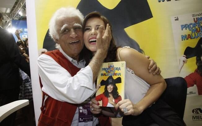 Ziraldo e Paola Oliveira, que atuou no filme