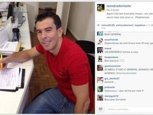 Leandro Donizete foi elogiado por torcedores do Galo, que comemoraram a renovação do volante