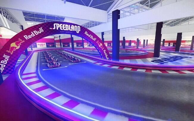 Speedland tem pista de kart, simuladores e uma série de diversões para quem curte automobilismo