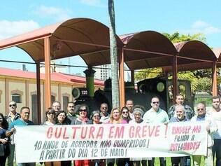Parados. Os servidores do Ministério da Cultura não estipularam um prazo para o término da greve