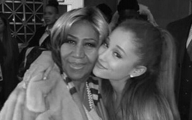 Ariana Grande foi uma das artistas que homenageou Aretha Franklin, que morreu em agoto em decorrência de um câncer