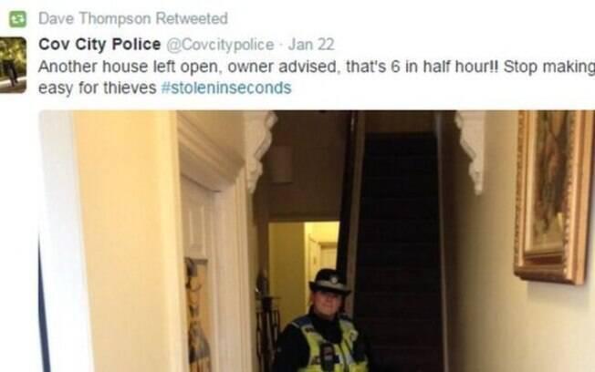 A polícia britânica disse que não recebeu nenhuma reclamação de moradores de Coventry