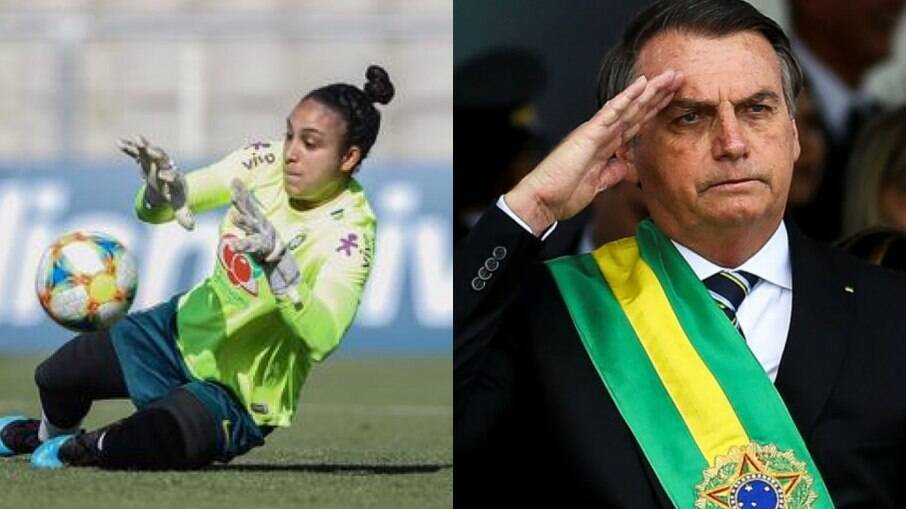 Letícia Izidoro e Jair Bolsonaro