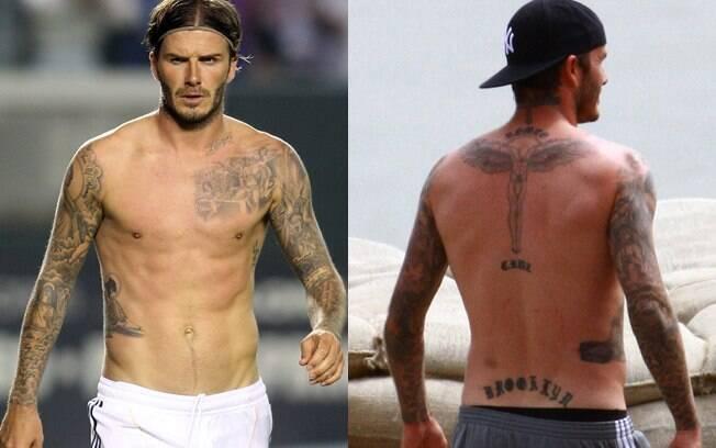 David Beckham e suas tatuagens