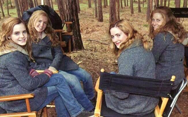 Emma Watson e as 3 dublês de Hermione
