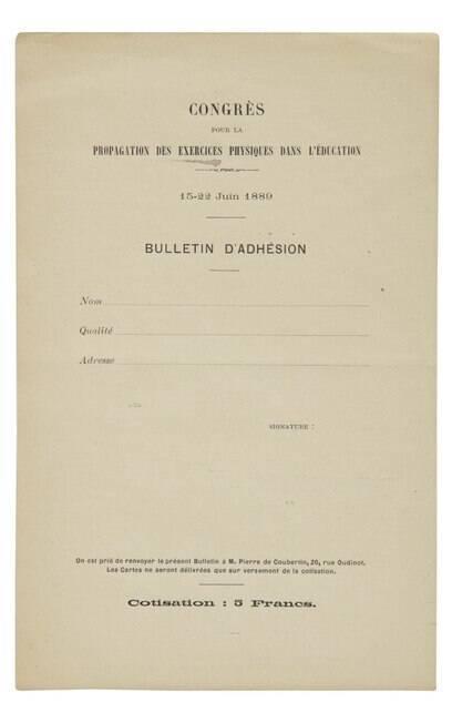 Manifesto olímpico original%2C escrito por Pierre de Coubertin%2C vira o objeto esportivo mais caro da história