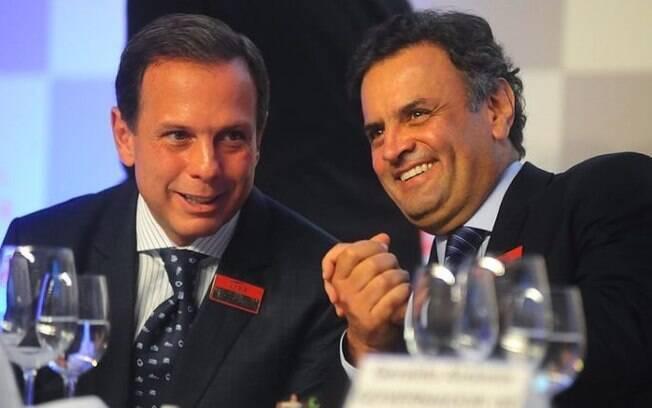 Doria e Aécio Neves apoiavam candidatos diferentes na briga pela liderança do PSDB na Câmara dos Deputados