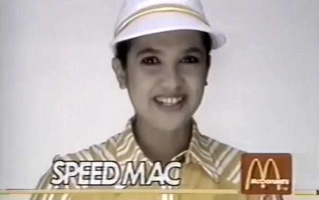 Em 1987, Sandra Annerberg estrelou propaganda de rede de fast-food