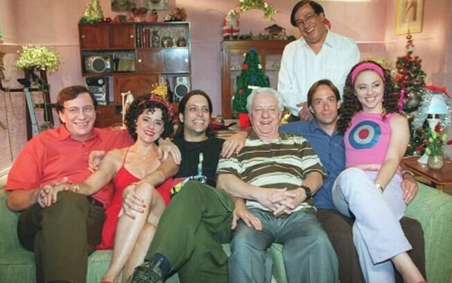 No Natal de 2002, pose do elenco: Marco Nanini, Marieta Severo, Lúcio Mauro Filho, Rogério Cardoso, Pedro Cardoso, Guta Stresser e Marcos Oliveira