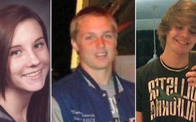 Da esquerda para a direita: Brittany Palumbo, Marcus Freeman e Wesley McKinley; Alunos morreram após hipnose