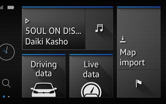 Integração com o celular via aplicativo, descarta a necessidade de um sistema próprio mais robusto