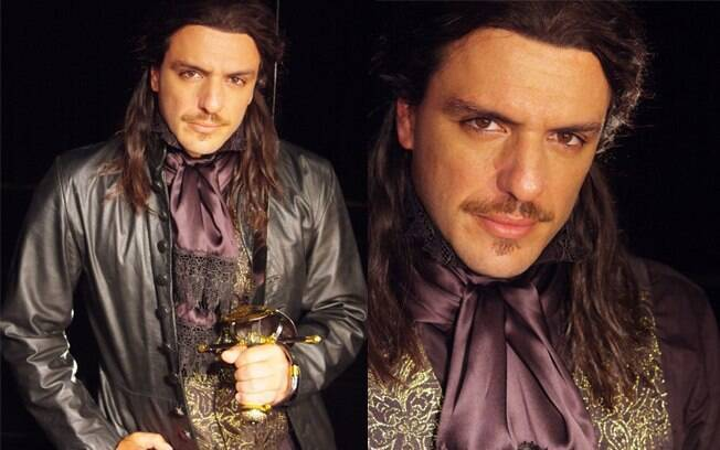 Rodrigo Lombardi caracterizado como Dom Juan