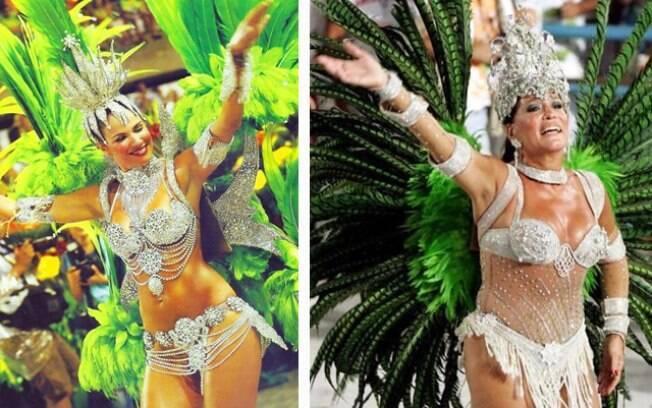 Luciana Gimenez e Susana Vieira já brilharam como musas do carnaval
