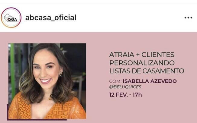 palestra da Isabela Azevedo