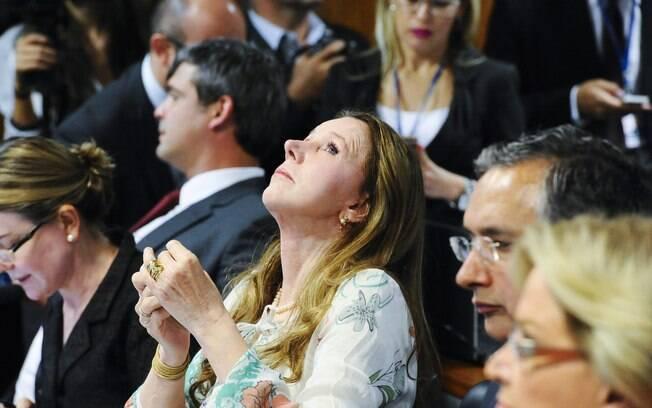 Senadora Vanessa Grazziotin (PCdoB-AM) durante reunião que discute o encaminhamento do relatório da Comissão Especial do Impeachment no Senado. Foto: Marcos Oliveira/Agência Senado
