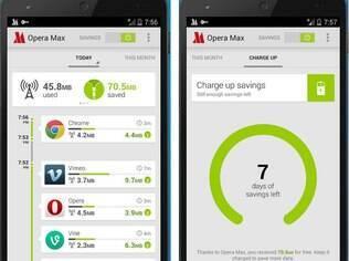 Opera Max comprime dados enviados para celular e ajuda a poupar dados do plano 3G/4G. Grátis para Android
