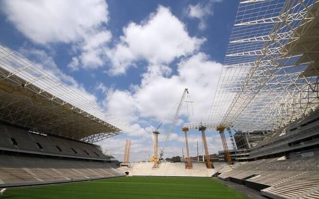 Estádio do Corinthians tem mais de 85% das  obras concluídas