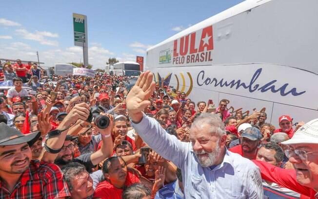 Lula em visita à cidade de Marcolândia, no Piauí