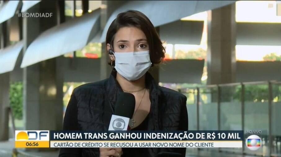 Luiza Caronce, repórter da Globo