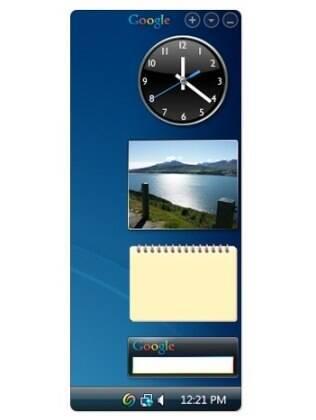 Google Desktop incluia barra de utilidades e caixa de busca na área de trabalho