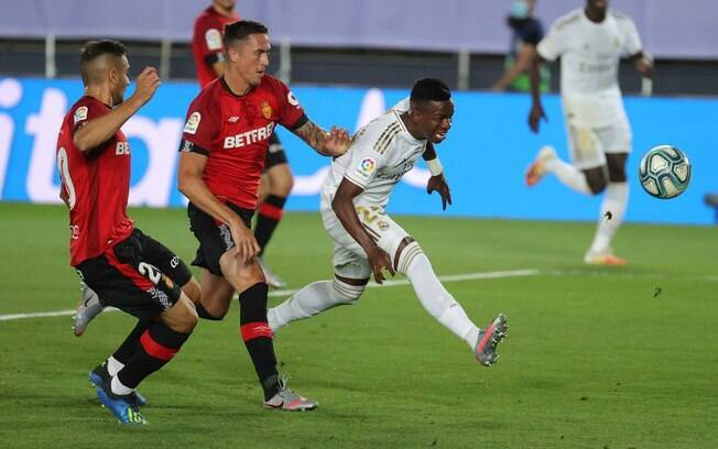 Vinicius Junior marcou um dos gols da vitória do Real Madrid sobre o Mallorca