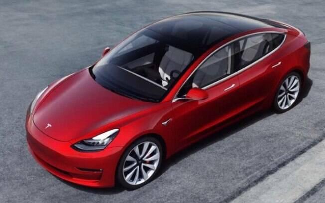 O sedã Tesla Model 3 é o carro elétrico mais vendido nos Estados Unidos nos dias atuais