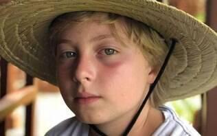 Benício, filho de Luciano Huck e Angélica, tem alta hospitalar