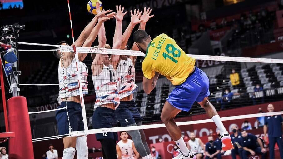 Brasil venceu os EUA no vôlei masculino