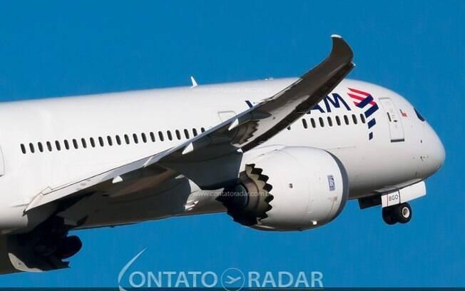 O motivo da visita inédita do Boeing 787 da LATAM em Confins