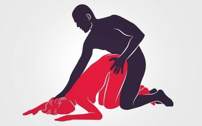 Em posições sexuais como esta, o homem penetra a parceira por trás, facilitando algumas brincadeiras de dominação