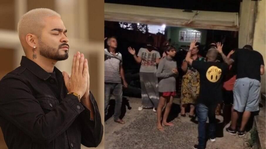 Yudi reúne fiéis em porta de hospital para orar por seus pais