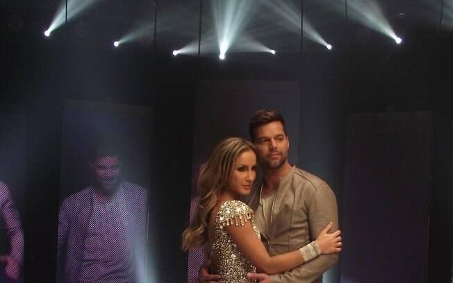Claudia Leitte grava clipe com Ricky Martin