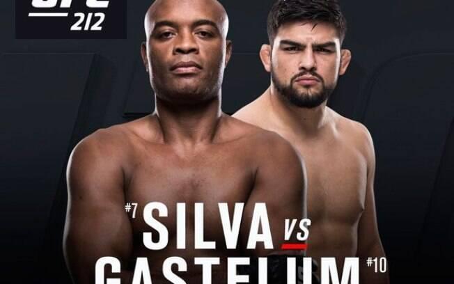 Anderson Silva e Kelvin Gastelum devem fazer luta principal no UFC Xangai; duelo deveria ter acontecido no UFC 212, mas doping travou duelo