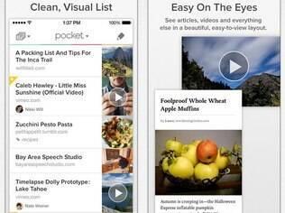 Pocket armazena páginas web para leitura no celular e tablet