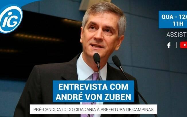 André von Zuben é o entrevistado do iG nesta quarta-feira (12).