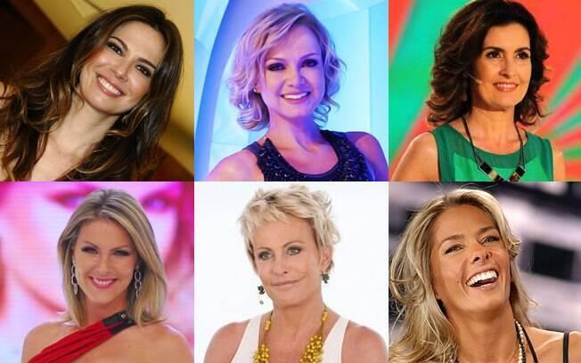 Luciana Gimenez, Eliana, Fátima Bernardes, Ana Hickmann, Ana Maria Braga e Adriane Galisteu