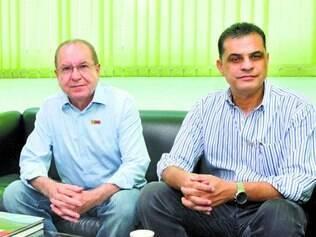 Líderes. O presidente do Grupo ABC, Valdemar Amaral, e o vice-presidente comercial, Ronaldo Peixoto