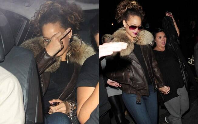 Rihanna mostrou o dedo do meio ao paparazzo