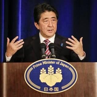 """Para premiê do Japão, acordo é """"poĺitica de visão ampla"""" de países que """"partilham valores"""""""